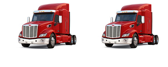 One day free Peterbilt sleeper or day cab truck for rent.